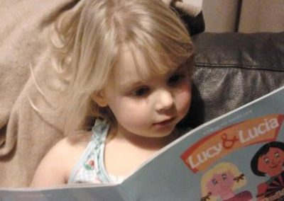 Gracie and her favourite book